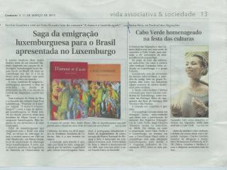 Sage da emigracao luxemburguesa para o Brasil aprensentada no Luxemburgo