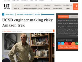 UCSD engineer making risky Amazon trek