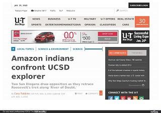 Amazon indians confront UCSD explorer